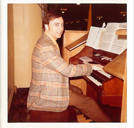 Photo of Vince Lashied at the Lower Church Organ