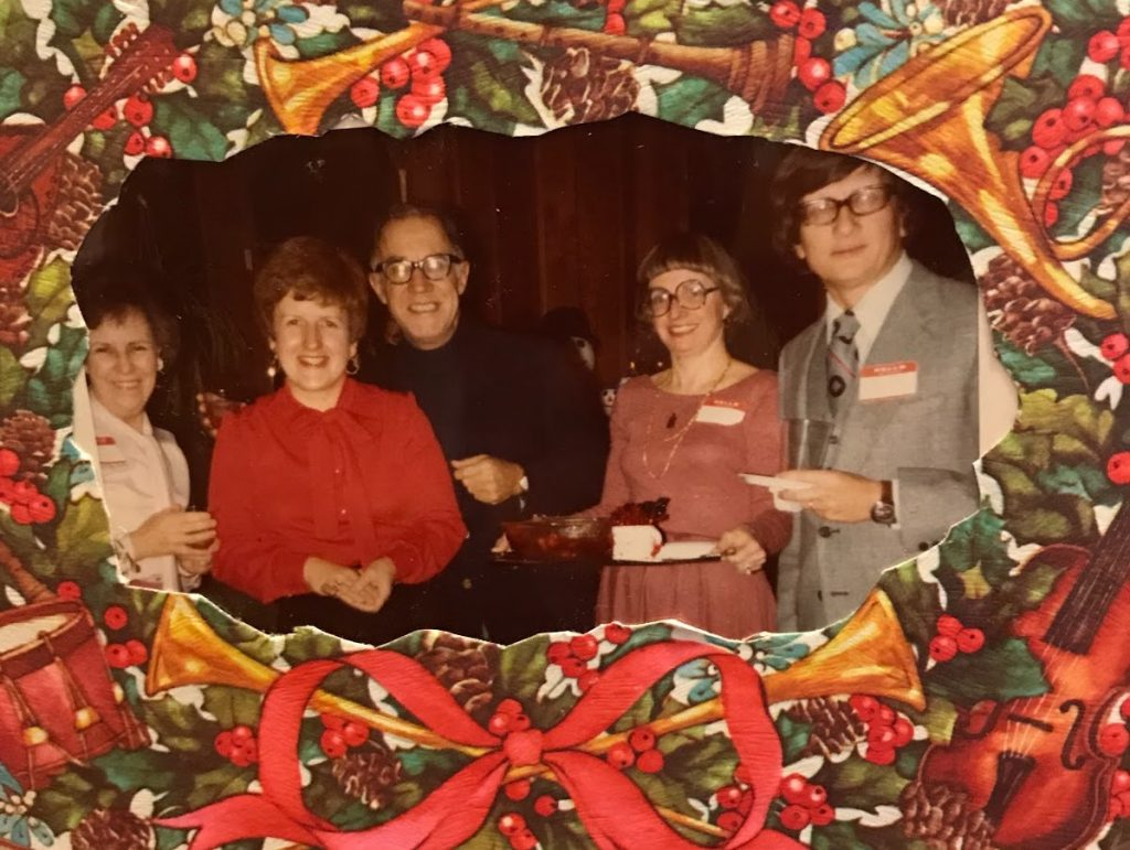 Photo of the Music Ministry Christmas Party, 1978