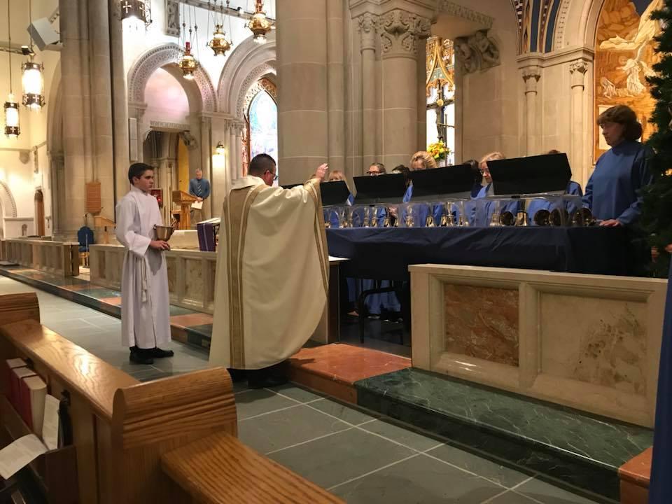 Photo of the Blessing of Handbells