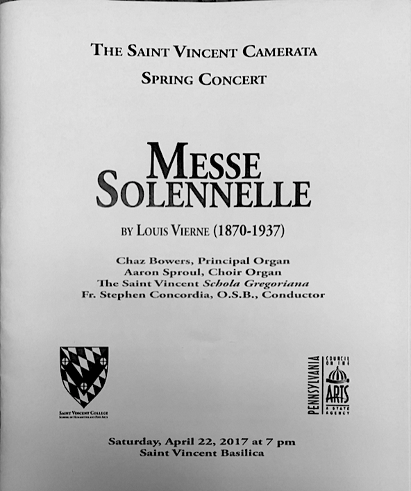 Program Cover of the Messe Solenelle